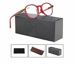 1 Eyeglasses Spring Hinge Plastic Rim Stylish Glasses with B