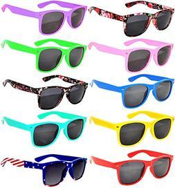 10 Pairs Kids Polarized Smoke Lens Sunglasses UV protection