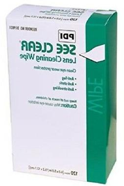 """120 PDI SEE CLEAR Eye Glasses Lens Cleaning Wipes 6"""" x 5"""" Ey"""