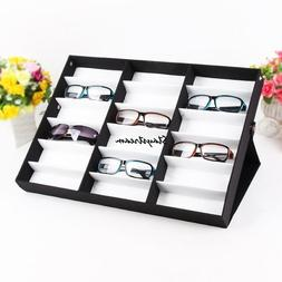 18 Grid Eye Glasses Case Eyewear Sunglasses Display Storage
