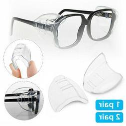 2/4 Pcs Universal Eye Glasses Side Shields Safety Protection