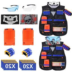 EXSPORT 2 Sets Tactical Vest Kits for Nerf Gun , 2 Pack N-St