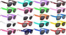 20 Pack Kids Polarized Smoke Lens Sunglasses Protect Child's