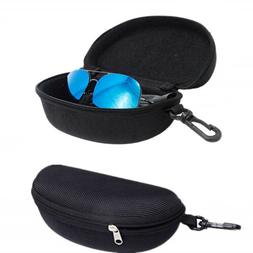2Pack Portable Zipper Eye Glasses Sunglasses Clam Shell Hard