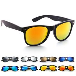 2Pairs Men Women's Wayfare Sunglasses UV400 Protection Mirro