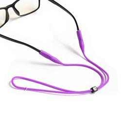 2PCS Silicone Eyeglass Cord Chains Reading Sunglass Neck Str