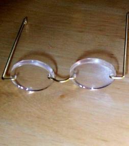"""3"""" Eye Glasses For Dolls  Set Of 2   Fits 18"""" Dolls  Round O"""