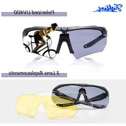 3 Lens Set Shooting Safety Glasses Clear Eye Protection Pola