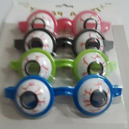4 Eye Ball Glasses Goofy Silly Googly Eyes Birthday Party Fa