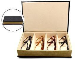 OptiPlix 4 Slot Glasses Tray - Multiple Compartment Eyeglass
