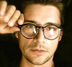 50's Vintage Retro Oval Round Circle Frame Clear Lens Keyhol
