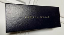 "6.5"" Ralph Lauren  Navy EMPTY Eye Glasses GIFT BOX  Genuine"