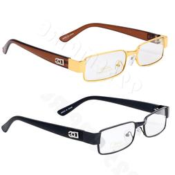 Men's Clear Lens Small Metal Frame Retro Rectangle Designer