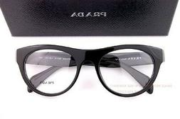 Brand New Prada Eyeglass Frames 02Q 02QV 1AB BLACK SZ 52 For