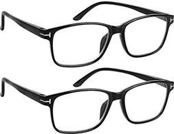 Computer Glasses 2 Pairs Anti Glare Anti Reflection Classic