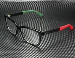 Gucci GG0160O 007 Eyeglasses Black Red Green Frame 55mm