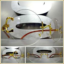 Men's Vintage Retro Style Round Clear Lens EYE GLASSES Rimle