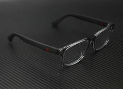 NEW Authentic GUCCI Mens Grey Matte Black Rubber Eye Glasses