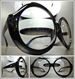 OVERSIZE VINTAGE RETRO Style Clear Lens EYE GLASSES Huge Lar