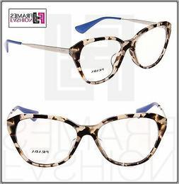 PRADA CINEMA PR28SFV Spotted Opal Brown Blue Eyeglasses RX f
