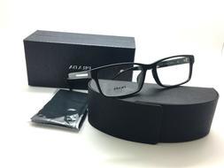 Prada Men Rectangular Eyeglasses Black Frame Demo Lens VPR 0
