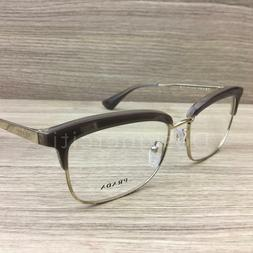Prada VPR08S Eyeglasses Opal Light Brown Gold UED-1O1 Authen