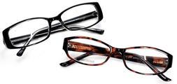 Set of 2 Heartland Collection Tortoise Black Eyeglass/Glasse