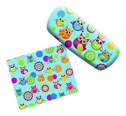 Unique Owl Lovers Eyeglass Reading Glasses Case and Lens Clo