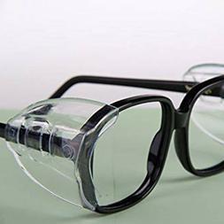 AB_ 2Pcs Universal Eye Glasses Side Shields Safety Protectio