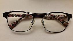ALAIN MIKLI AL1221 M0C5 Blue Black Pink Navy Check Eyeglasse