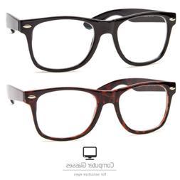 Anti Reflective Computer Glasses TV Protection Non Reading V