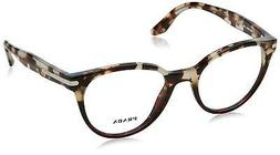 Authentic PRADA 07TV - U6P1O1 Eyeglasses Spotted Brown Opal