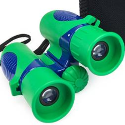 Verb Gear Best Binoculars for Kids in Green and Blue with 8X