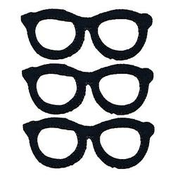 Black Spectacles Eye Glasses Applique Patch