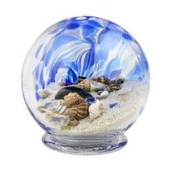 Blue Hand Made Glass Sea Globe