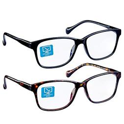 K KENZHOU Blue Light Blocking Computer Glasses 2 Pack Anti E