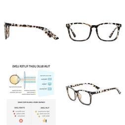 Tijn Blue Light Blocking Glasses Square Nerd Eyeglasses Fram