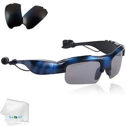 TOPEPOP Bluetooth Sunglasses Wireless Sport Glasses Stereo M