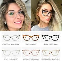 Cat Eye Clear Glasses Frames Women Crystal Eyeglasses Optica