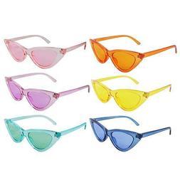 Cat Eye Clear Translucent Sunglasses Vintage Designer Glasse