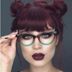 "Cat Eye Demi ""BABY BAN"" Ombre BAMBI Crystal Clear  Eyeglasse"