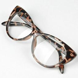 Cat Eye Glasses Durable Plastic Frame Female Party Beach Eye