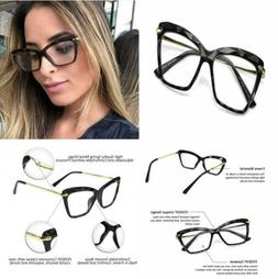 FEISEDY Cat Eye Glasses Frame Crystal Non Prescription Eyewe