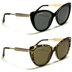 Cat Eye Metal And Plastic Frame Glasses BeOne Polarized Wome
