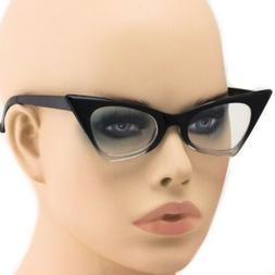 Cat Eye Ombre Gradient Frames Fashion Designer Clear Lens Gl