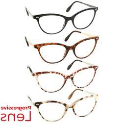 Cat Eye Progressive Reading Glasses 3 Strengths in 1 Reader