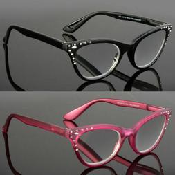 Cat Eye Reading Eye Glasses Readers Women Classy Elegant Ret