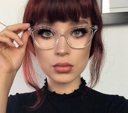"Cat Eye Vintage Retro ""Ombre""  Women Eyeglasses BAMBI Clear"