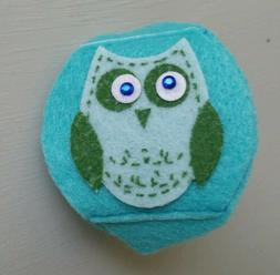 Childrens Kids Eyeglass Lazy Eye Patch Cute Blue Owl Right E