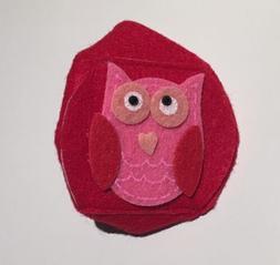 Childrens Kids Eyeglass Lazy Eye Patch Owl Left Eye Red Ambl